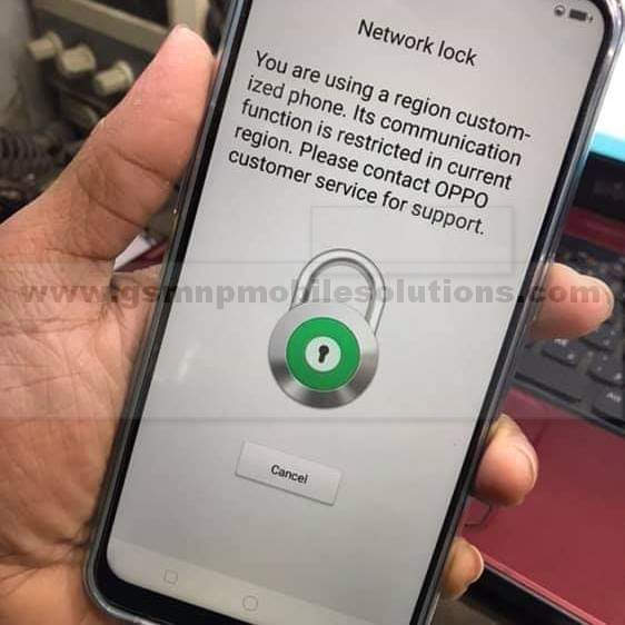 Oppo A7 CPH1901 January/5 Patch network Unlock Solutions