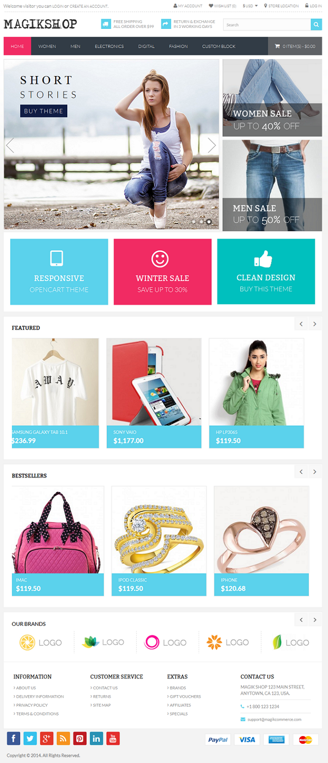 Premium Responsive OpenCart Theme