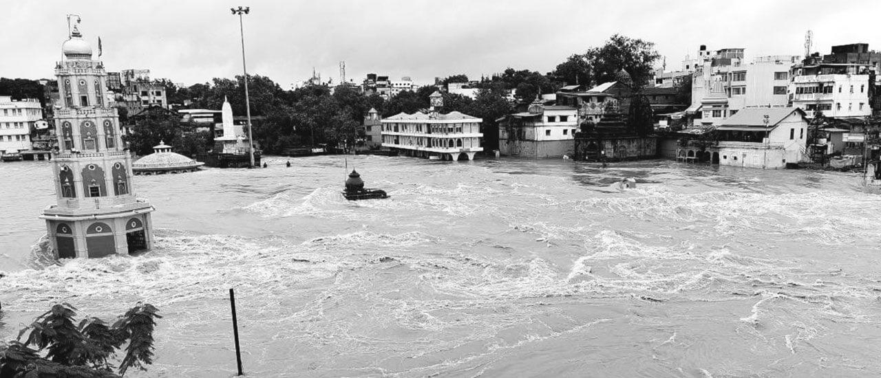 २०१९ नाशिकमध्ये गोदावरी नदीला आलेला पूर