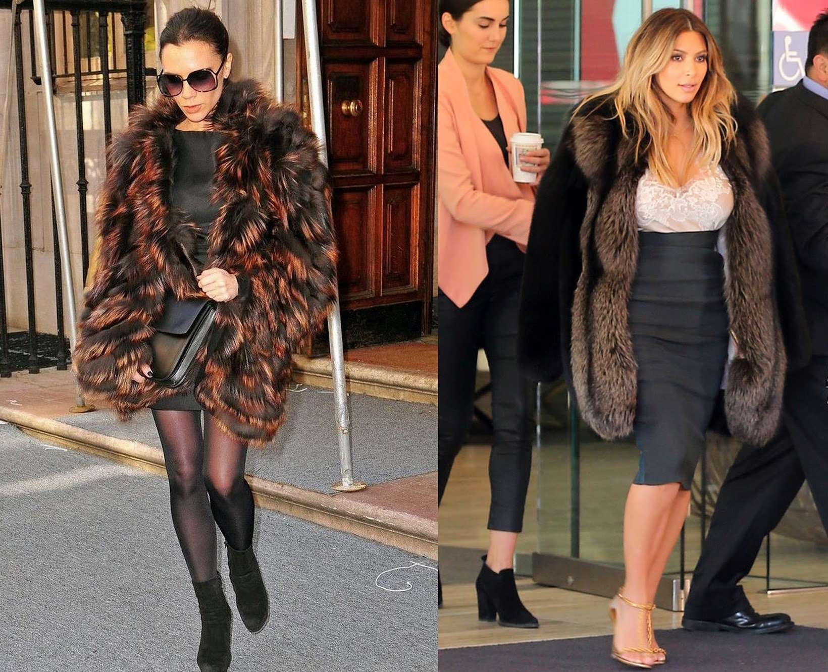 Faux Fur for autumn/winter, affordable faux fur coats online, Kim Kardashian in faux fur, Victoria Beckham, wholesalebuying.com, Indian fashion blogger