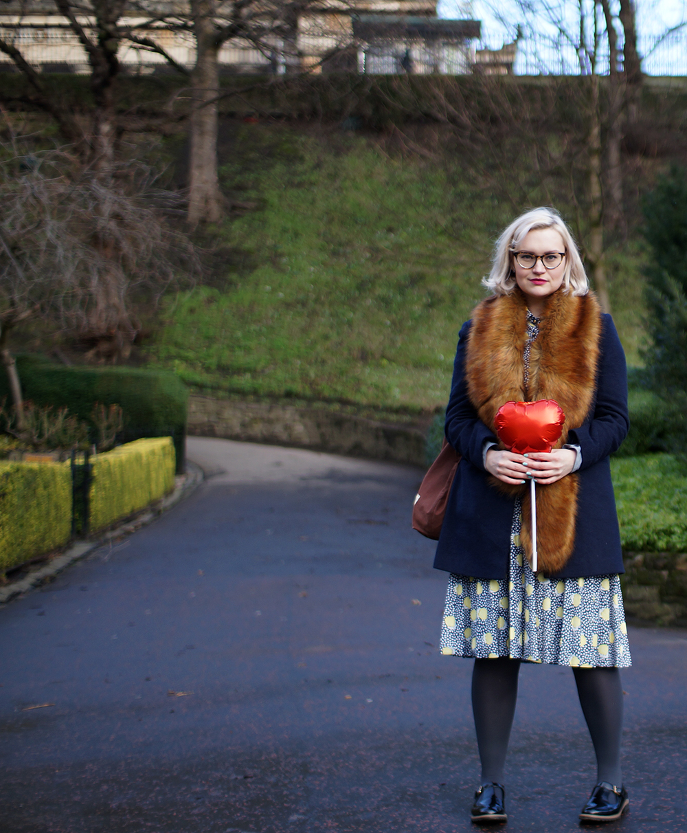 heart balloon, Edinburgh princes street, #EdFashion