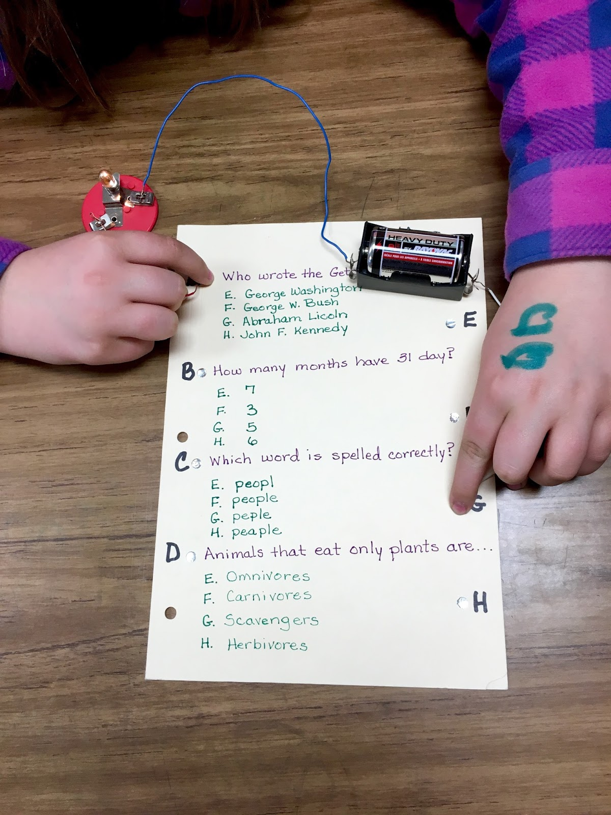 Making A Circuit Quiz Board Everything About Wiring Diagram Electronic Owl Teaching Electrical Folders Rh Owlaboutteaching Missfrancis Blogspot Com Science Project Boards Backside