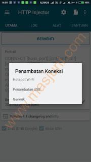 penambatan koneksi http injector