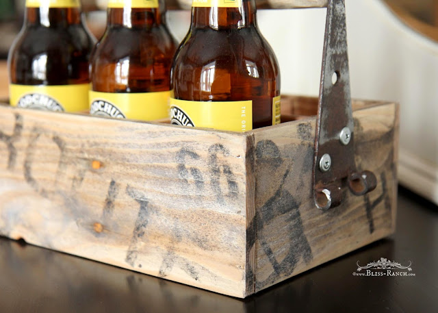 Wood Route 66 Beer Tote, Bliss-Ranch.com