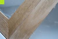 Tür: Küchenschrank Wandschrank Hängeschrank 4 Haken 4 Schubladen 2 Glastüren Schrank