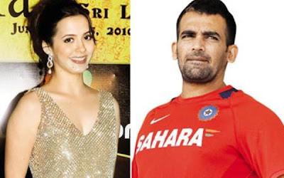 Sports Information: Zaheer Khan and his wife Isha Sharvani
