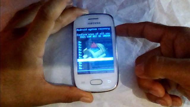 Como hacer un reset en Samsung Galaxy Pocket S5300