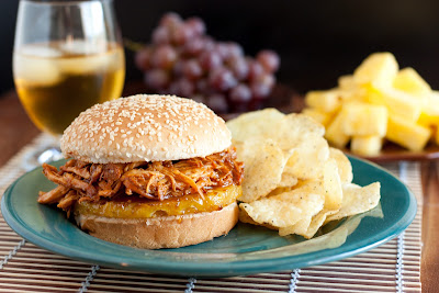 Pulled Chicken BBQ Sandwich Recipe | Healthy Sandwich Recipe