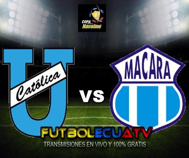 Universidad Católica se mide ante Macará en vivo desde las 15h30 horario designado por nuestra FEF a disputarse en el estadio Olímpico Atahualpa ciudad de Quito por la fecha cuatro del campeonato doméstico, siendo el juez principal Omar Andrés Ponce Manzo con transmisión del canal autorizado GolTV.