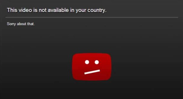 Youtube Error - This Video is Not Available in Your Country