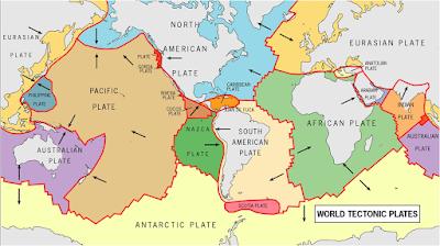 Peta tektonik lempeng