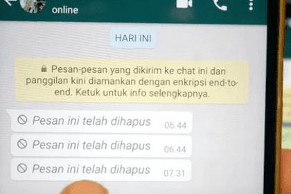 Inilah Cara Buka Pesan WhatsApp Yang Sudah Dihapus