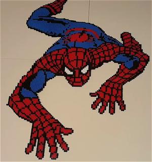SPIDERMAN hecho con Hama Beads Imagen1