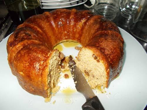 Receita do bolo de aveia com fubá e banana