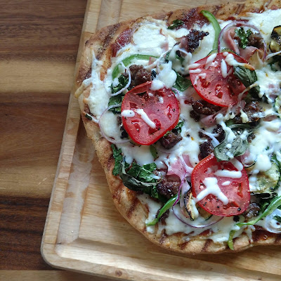 Grilled Pizza - OnMyPlateBlog