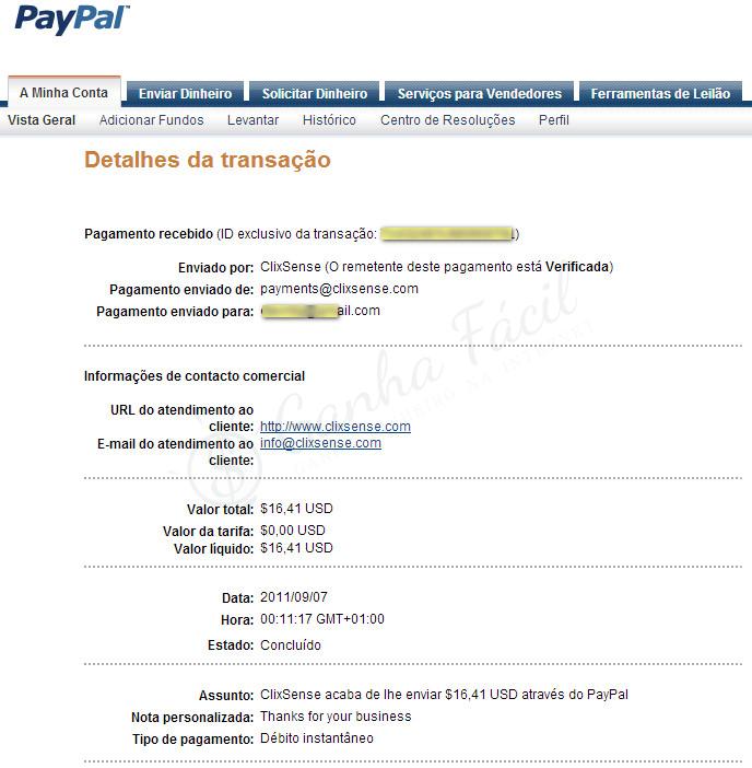 clixsense pagamento payout cashout dinheiro ptc paypal money ganha fácil ganhar