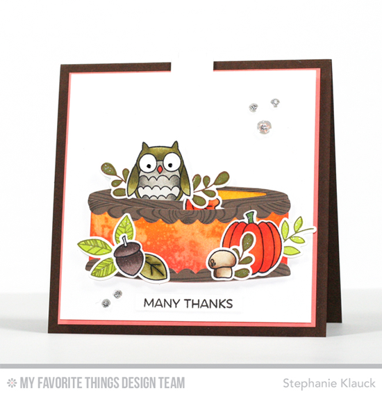 Handmade card from Stephanie Klauck featuring Fall Friends and Harvest Buddies stamp sets and Die-namics, Interactive Birthday Cake and Circle STAX Set 1 Die-namics #mftstamps