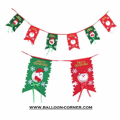 Bunting Flag Flanel MERRY CHRISTMAS