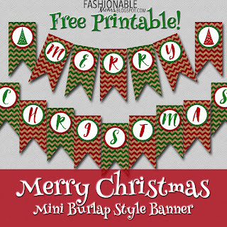 image relating to Printable Christmas Banner named My Contemporary Options: Absolutely free Printable: Burlap Merry