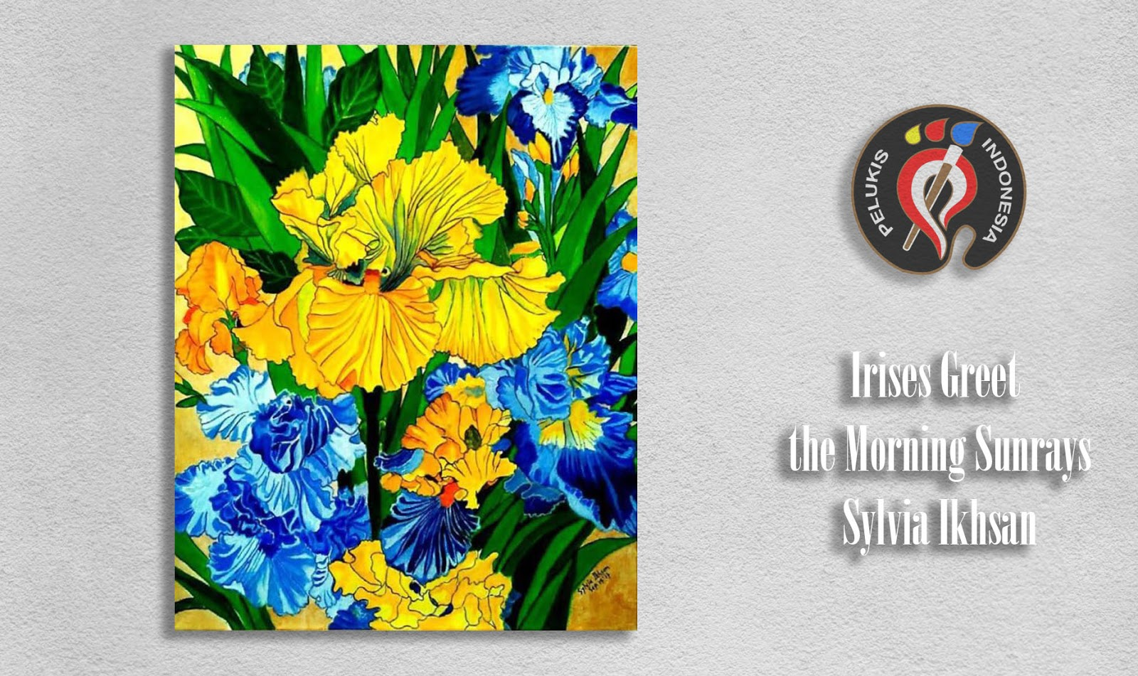 Irises Greet The Morning Sunrays