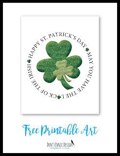 Irish Blessing, Irish Poster, St. Patricks Day Poster, Free St. Patrick's Day Art, Printable Art, Printable Poster, Shamrock Poster, Shamrock Art, Free Printable Art, Glitter Art