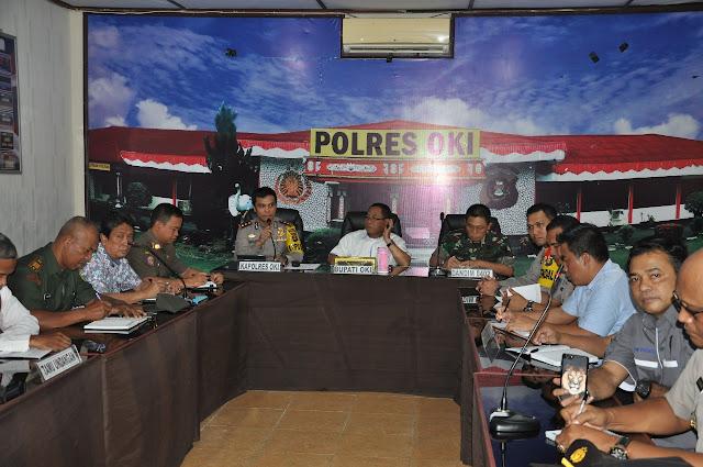 Polres OKI Gelar Rakor Ops Ketupat Musi 2018