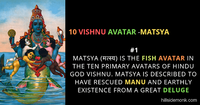 10 Vishnu Avatar In Hinduism-MATSYA