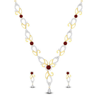 Diamond and Ruby Necklace Set - Zaamor Diamonds