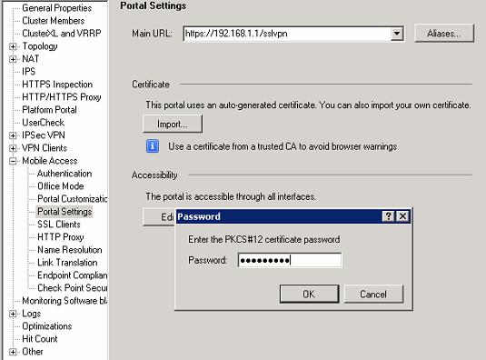 Using Symantec Verisign SSL Certificate for Check Point SSL