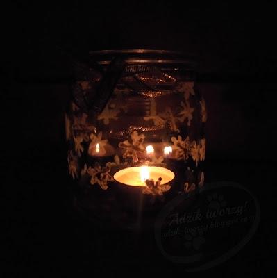 diy świeczniki ze słoików