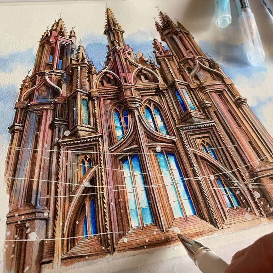 02-Gothic-Church-of-St-Anne-Drawings-Rihiko-www-designstack-co