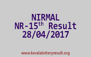 NIRMAL Lottery NR 15 Results 28-4-2017