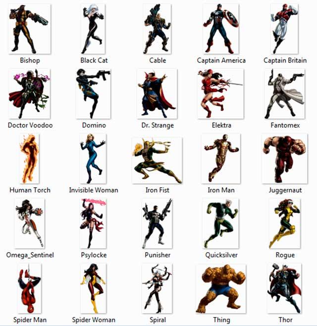 Vista Previa 1-25 Imágenes HD en PNG de Héroes Marvel