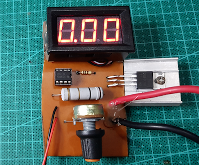 Electronic load using Op-Amp IC 358