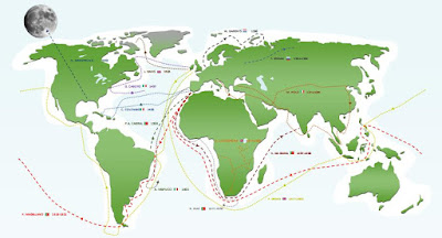 world exploration travel routes map