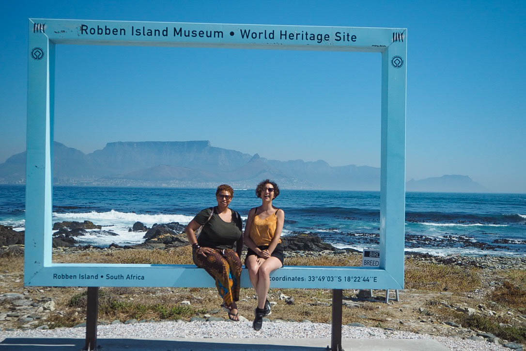 View of Table Mountain from Robben Island