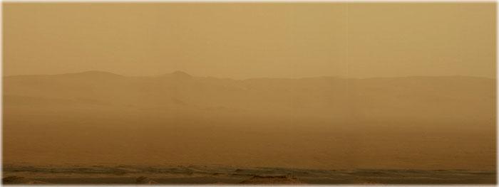tempestade de poeira global em Marte