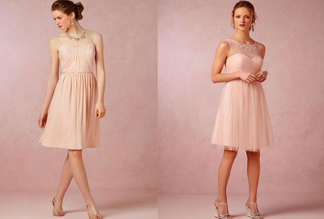 vestidos palo rosa con zapatos