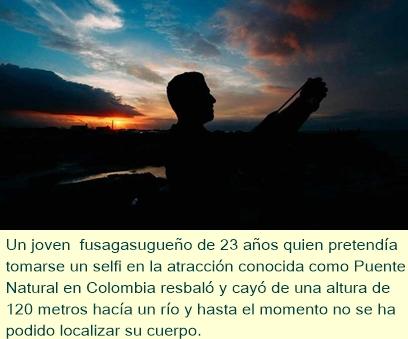 Se cae a un río desde una gran altura en Colombia al tomar un selfi (VIDEO)