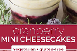 Cranberry White Chocolate Mini Cheesecakes
