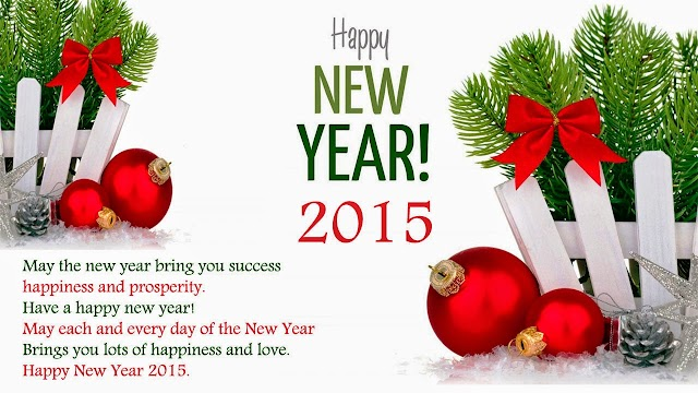 2015 New Year Greetings Card
