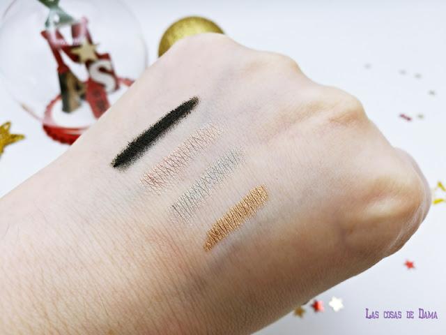 deborah Milano maquillaje makeup navidad metallic jewell gold