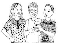 Resultado de imagem para desenho para colorir de pessoas conversando