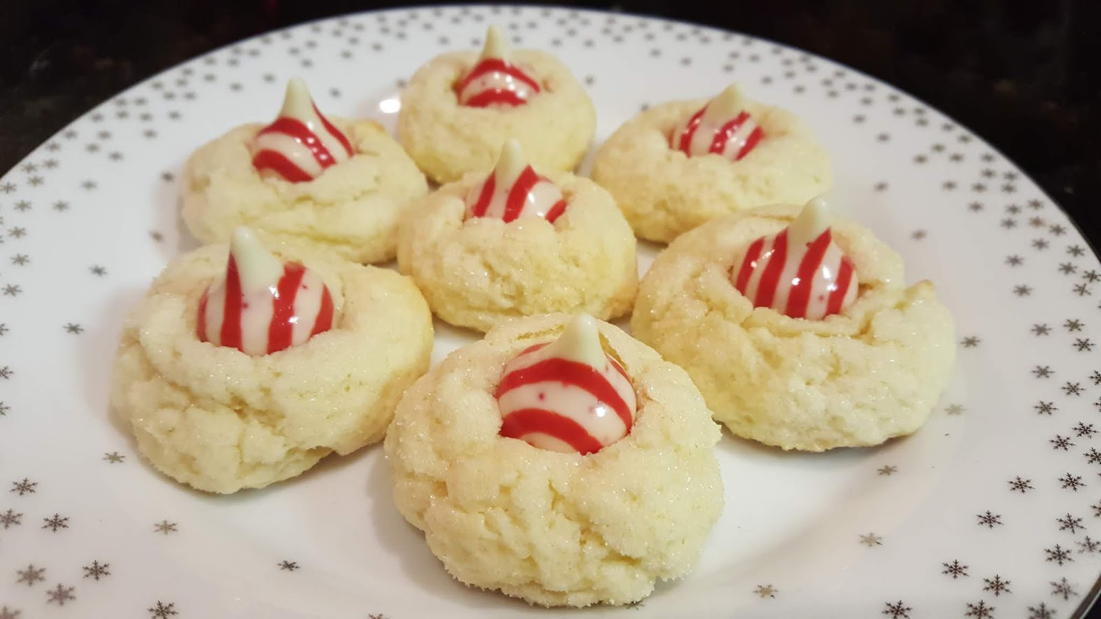 Cook With Sara Candy Cane Kiss Cheesecake Cookies