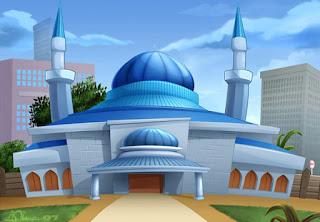 Gambar Kartun Masjid Cantik dan Lucu 201709
