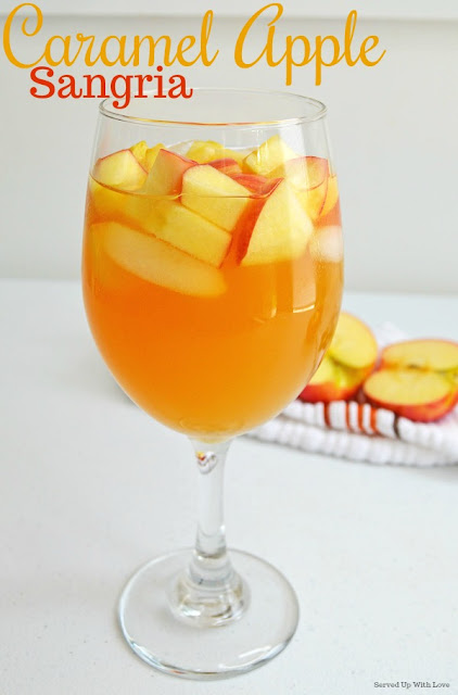 Caramel Apple Sangria is the party drink to celebrate all things fall.