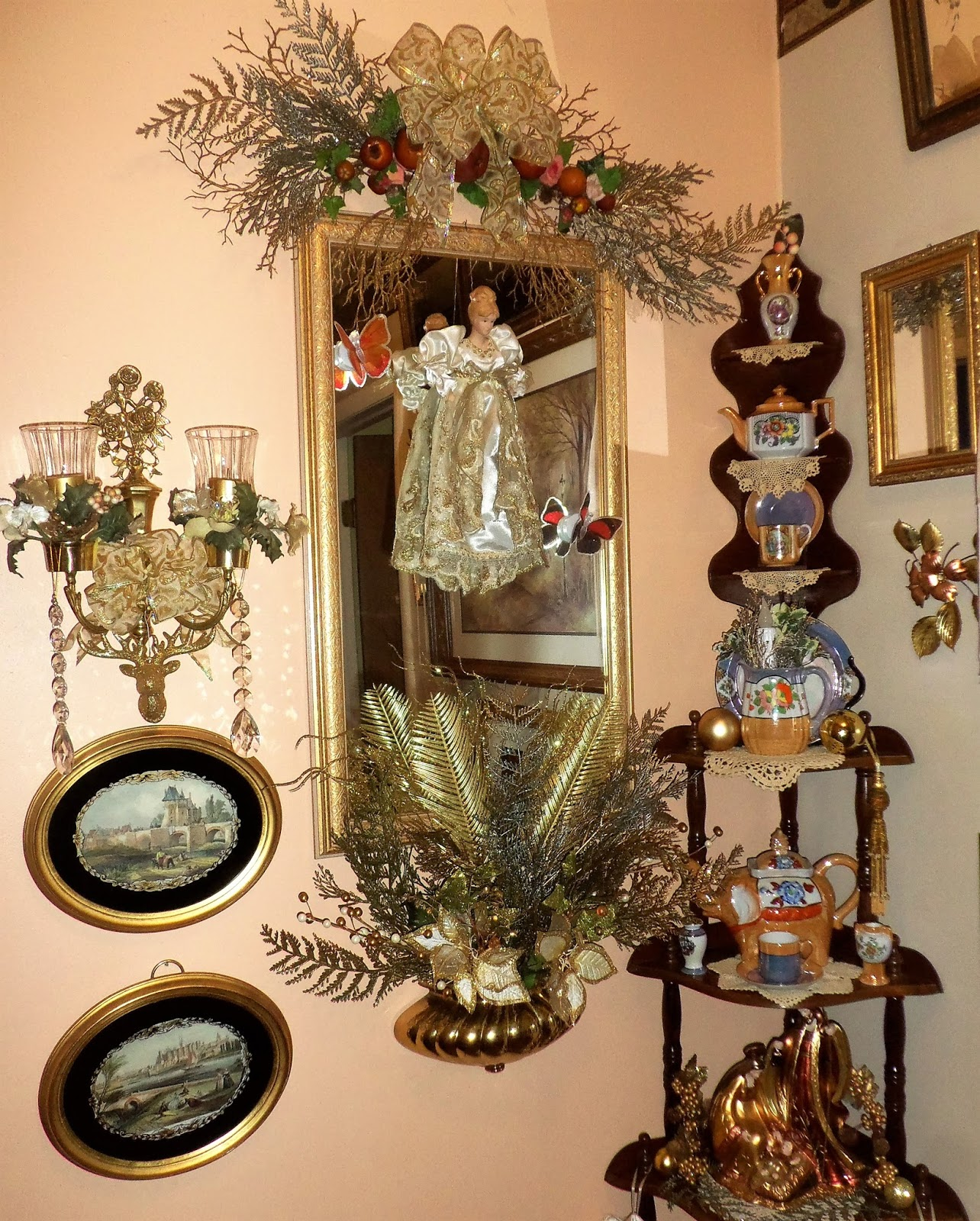 A debbie dabble christmas christmas in the master bedroom for Next home xmas decorations