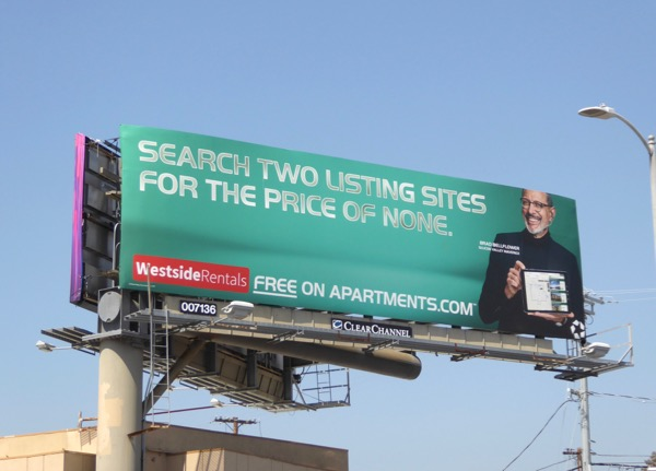 Westside Rentals free on Apartments dotcom billboard