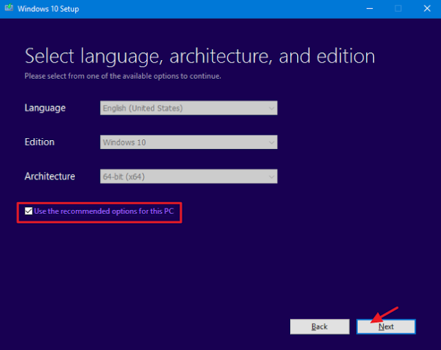 memilih jenis file iso windows dengan revisi bahasa, edisi, dan versinya