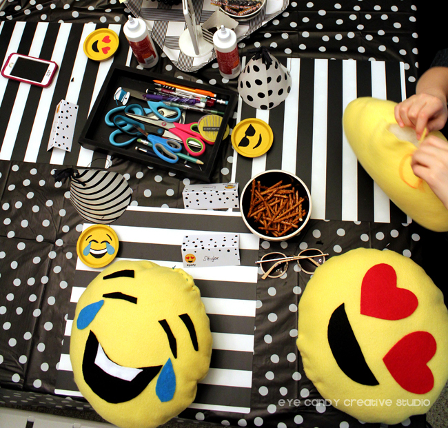 hand sewn emoji pillows, emoji craft, handmade emoji pillows
